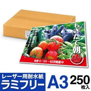 耐水紙 ラミフリー A3 250枚